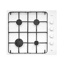 Chef CHG642WB 60cm 4 Burner White Gas Cooktop