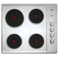 Chef CHS642SA 60cm 600mm Stainless Steel Solid Element Electric Cooktop