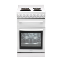 Euromaid F54RW White Electric Oven with Coil Cooktop