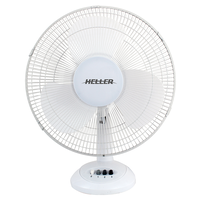 Heller HHDF40S White Desk Fan 3 Speed Settings Tilt Adjustable