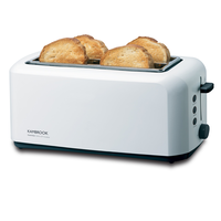 Kambrook KTA140WHT Wide Slot 4 Slice White Toaster
