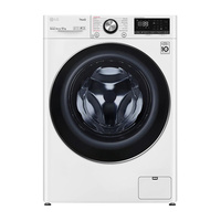 LG WV91412W 12kg White Front Load Washing Machine w/ Steam+