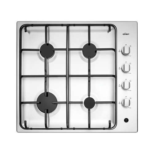 Chef CHG642SB 60cm 4 Burner Stainless Steel Gas Cooktop